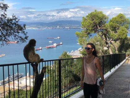 Me + monkey